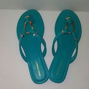 Turquoise and Gold Sandal
